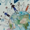 Poster displayed in the school atrium in honour of World Italian Language Day in 2006.
